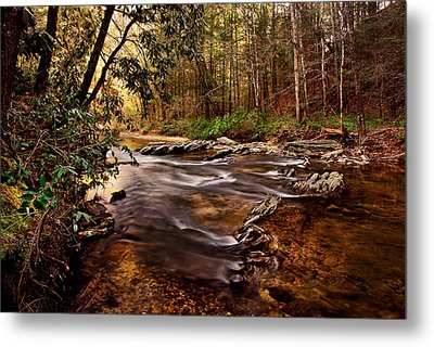 Hells Hole At The Chauga River Metal Print by Brent Craft