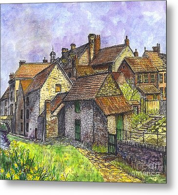 Helmsley Village -  In Yorkshire England  Metal Print by Carol Wisniewski