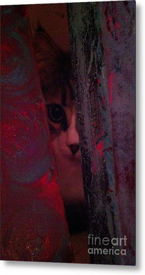 Metal Print featuring the photograph Helping In The Art Studio by Jacqueline McReynolds