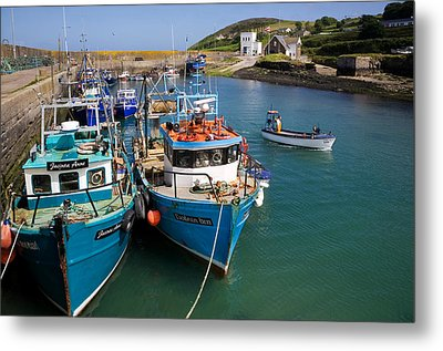 Helvick Harbour, Ring Gaeltacht Region Metal Print by Panoramic Images