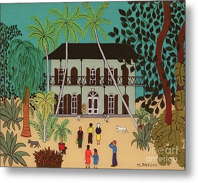 Hemingways House Key West Florida Metal Print