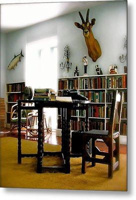 Hemingway's Studio II  Ernest Hemingway Metal Print by Iconic Images Art Gallery David Pucciarelli