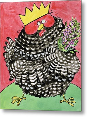 Hen Metal Print by Maylee Christie