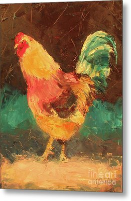 Hen In Vermont Metal Print