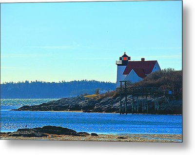 Metal Print featuring the photograph Hendricks Head Lighthouse 2 by Amazing Jules