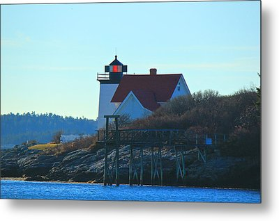 Metal Print featuring the photograph Hendricks Head Lighthouse by Amazing Jules