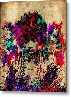 Hendrix 2 Metal Print