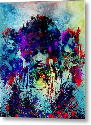 Hendrix 3 Metal Print