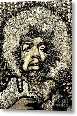 Jimi Hendrix Metal Print by Michael Kulick
