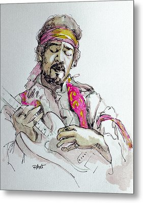 Metal Print featuring the painting Hendrix by Laur Iduc