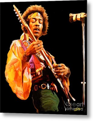 Hendrix Metal Print by Paul Tagliamonte