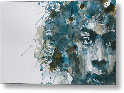 Hendrix Watercolor Abstract Metal Print by Paul Lovering