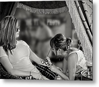Metal Print featuring the photograph Henna At The Fair by Jennie Breeze