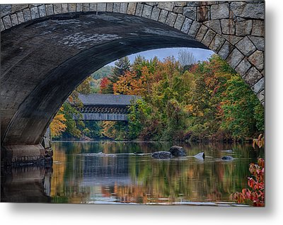 Henniker Covered Bridge No. 63 Metal Print by Jeff Folger