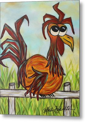 Ol' Rooster Metal Print by Molly Roberts