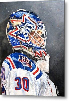Henrik Lundqvist - New York Rangers Metal Print