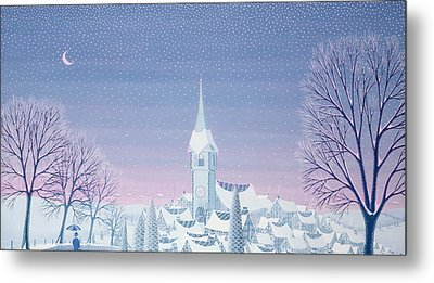Henris Winter Innocence Metal Print by Peter Szumowski