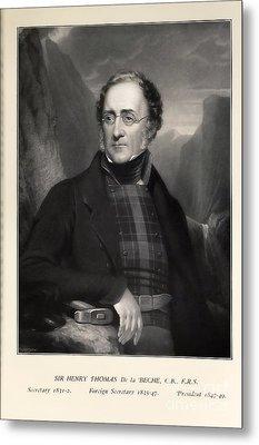 Henry De La Beche, English Geologist Metal Print by Paul D. Stewart