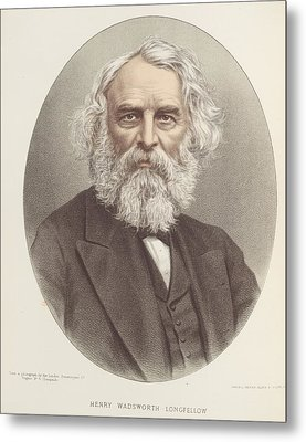 Henry Wadsworth Longfellow Metal Print by British Library