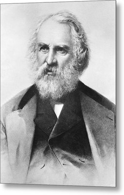 Henry Wadsworth Longfellow Metal Print by Underwood Archives