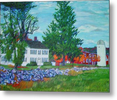 Henry Warren House And Barn Metal Print