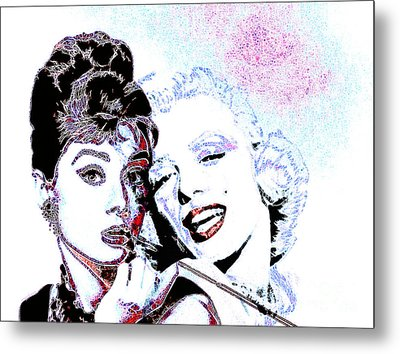 Hepburn And Monroe 20130331 Metal Print by Wingsdomain Art and Photography