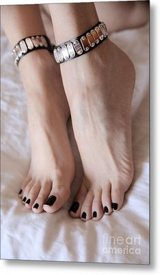Her Amazing Feet Metal Print by Tos