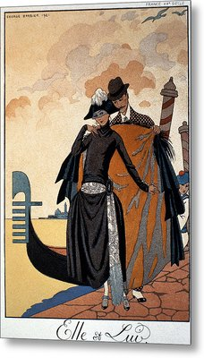 Her And Him Metal Print by Georges Barbier