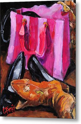 Her Closet Metal Print by Carole Foret