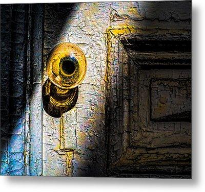 Her Glass Doorknob Metal Print by Bob Orsillo