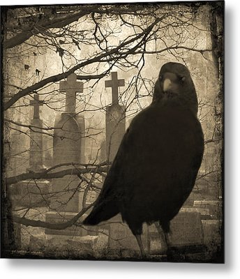 Her Graveyard Metal Print by Gothicrow Images