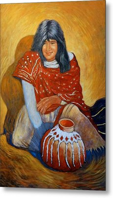 Metal Print featuring the painting Her Last Pot by Charles Munn
