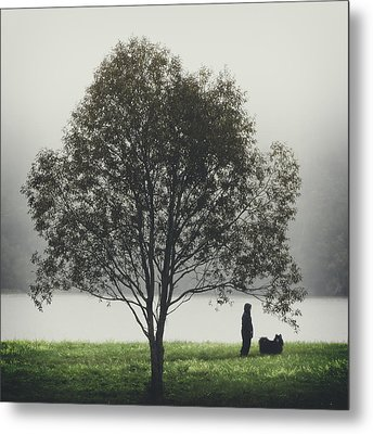 Her Life With A Dog Metal Print