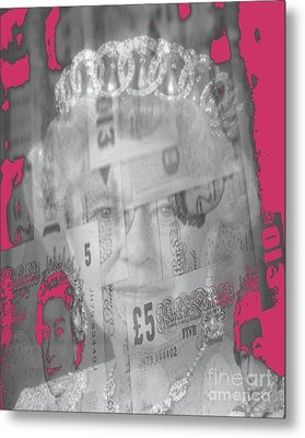 Her Majesty Queen Elisabeth Metal Print by PainterArtist FIN