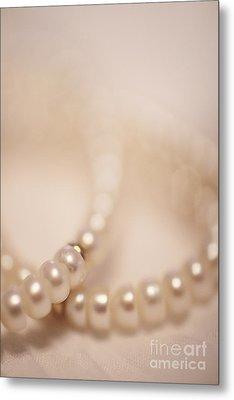 Her Pearls Metal Print by Trish Mistric