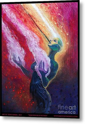Her Power Is Within Metal Print