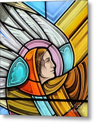 Metal Print featuring the glass art Heralding Angel by Gilroy Stained Glass