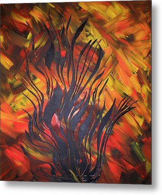 Metal Print featuring the painting Herbst by Nico Bielow