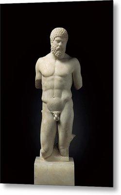 Hercules. 5th C. Bc. Roman Copy. Greek Metal Print