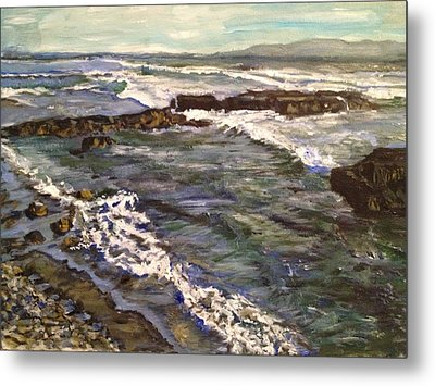 Metal Print featuring the painting Here And Beyond by Belinda Low