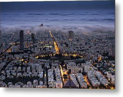 Metal Print featuring the photograph Here Comes The Fog  by Ron Shoshani