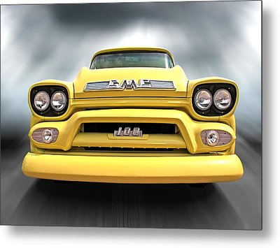 Here Comes The Sun - Gmc 100 Pickup 1958 Metal Print by Gill Billington