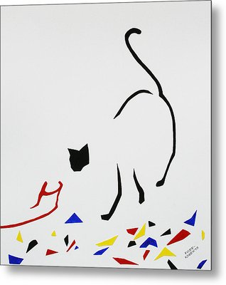 Here Kitty Kitty Metal Print by Eve Riser Roberts