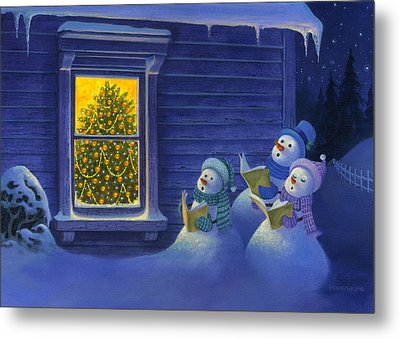 Here We Come A Caroling Metal Print by Michael Humphries