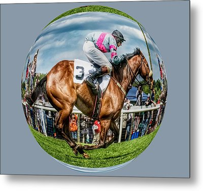 Here We Go Round In Circles Metal Print by Robert L Jackson