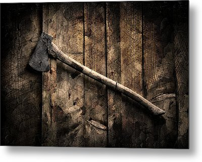 Metal Print featuring the photograph Wood Cutter by Aaron Berg