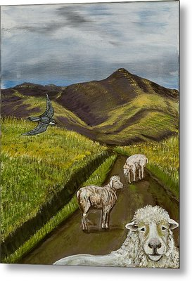 Metal Print featuring the painting Here's Looking At You Kid by Susan Culver