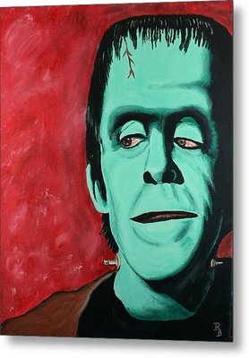Herman Munster - The Munsters Metal Print by Bob Baker