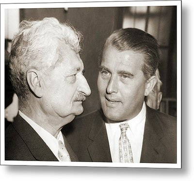 Hermann Oberth And Wernher Von Braun Metal Print