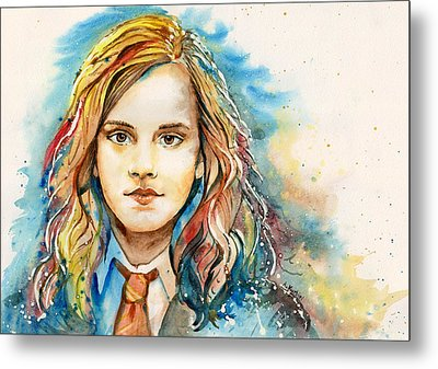 Hermione  Metal Print by Alina Kurbiel